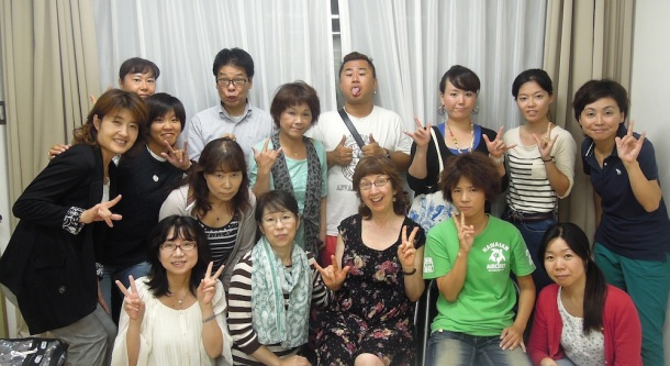 ASL class for Deaf Japanese people, near Osaka, Japan