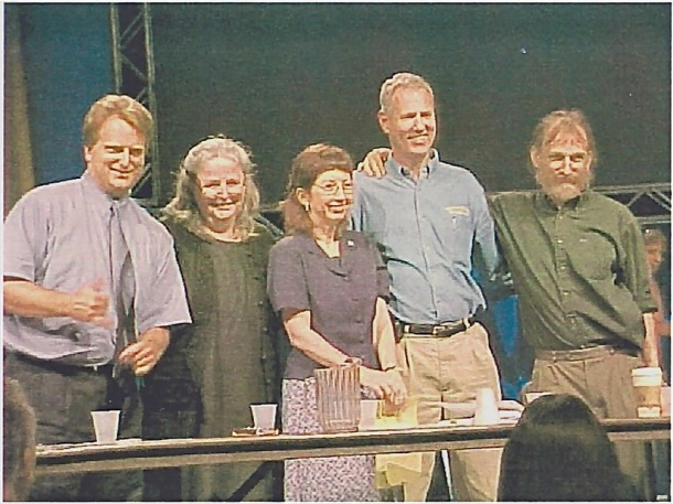 Deaf Way II panel, 2002, with L to R: Thomas Holcomb, Theresa Smith, Anna Mindess, Ben Bahan, Paddy Ladd.